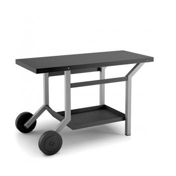 TABLE ROULANTE ACIER NOIR GRIS